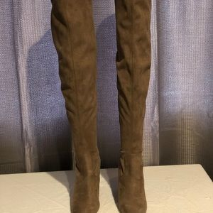 Steve Madden Shoes - Steve Madden Emotions taupe thigh high boots